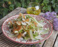 Ensalada de «crudites de verdura» con vinagreta de encurtidos, receta súper sana y deliciosa.
