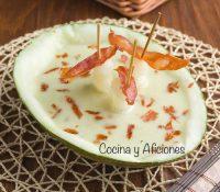 Gazpacho de melón, receta sencilla y fresca