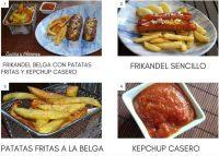 Frikandel con patatas fritas y kétchup casero, receta belga.