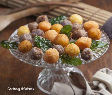 Bolitas de patata, receta de aperitivo o acompañamiento con patatas «Princesa Amandine»