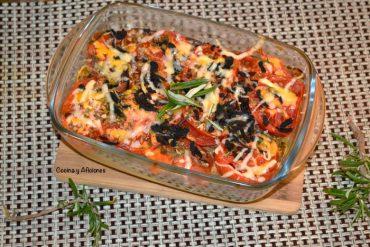 Pastel de verduras con toque de trufa, receta