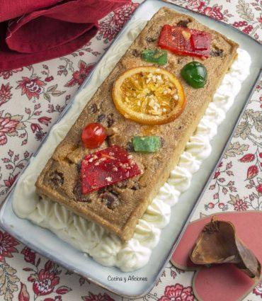 Pudin de roscón de Reyes, receta