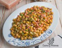 Garbanzos al wok con verduras, receta deliciosa.