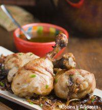 Muslitos de pollo con marinada de soja, receta sencilla y rica