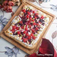 Tarta de macedonia, la mas rica y bonita.