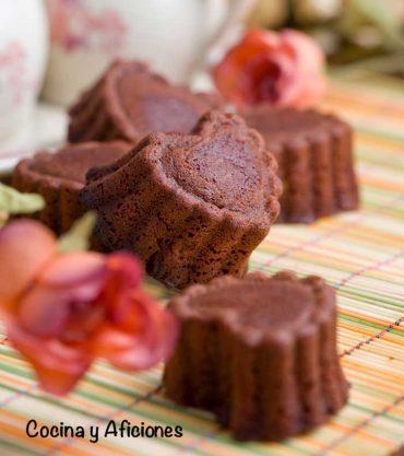 Brownies corazón muerte por chocolate, receta romántica