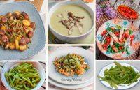 Judías verdes apuntes, técnica para hervirlas y 4 recetas: Ensalada de judías verdes con fresas y boquerones; salteadas con longaniza; a la romana y en suave crema.