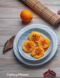 Naranjas preparadas con triple seco y anisetes, la mejor receta