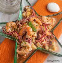 Salpicón de langostinos con toque especial y diferente, receta deliciosa. el mejor