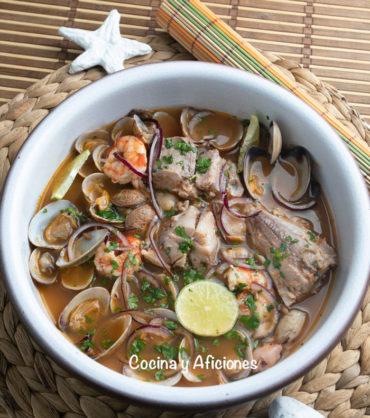 Sopa de pescado o sopón marinero cubano, receta deliciosa y nutritiva