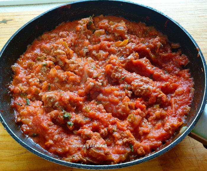 salsa boloñesa para rellenar y cocinar lasaña