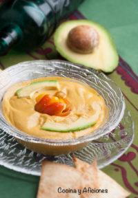 Dip o paté de guacamole, receta mexicana muy alegre y picantona