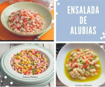 Ensalada de alubias blancas con vinagreta de yema y sus toques receta sencilla