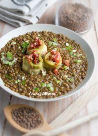 Guiso de lentejas con alcachofas, receta reconfortante y deliciosa