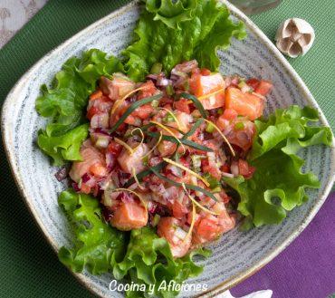 Lomi lomi de salmón, receta de Hawái absolutamente deliciosa