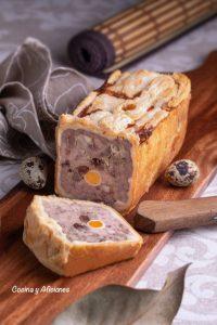 Pate de carne al brandy en croûte, una receta francesa de fiesta.