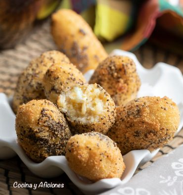 Croquetas tortilla patata, ricas y diferentes