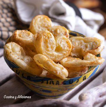 Palmeras de queso, un aperitivo fácil y sencillo pero de lujo