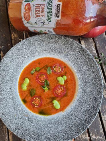 Gazpacho Origen y Tradición de tomate rosa del Lidl con toque, ¡no te lo pierdas!