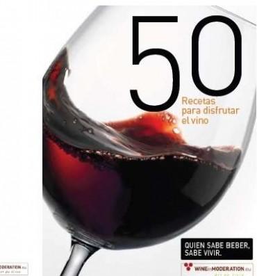 Disfruta del vino con 50 recetas, recetario.