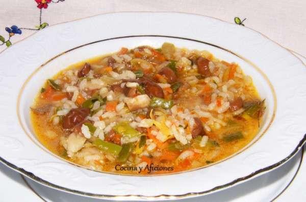 Arroz caldoso con verduras y setas 4
