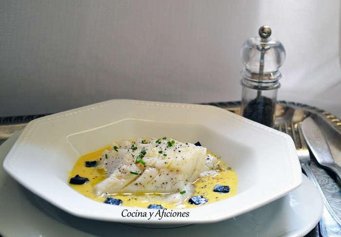 Bacalao con azafran y alma de caviar  3