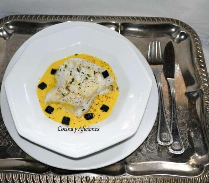 Bacalao con azafran y alma de caviar