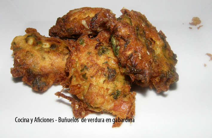 Buñuelos  de verdura en gabardina, receta