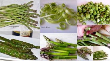 Técnica de cocina: como manipular los espárragos verdes