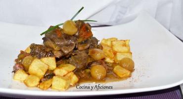 Carne guisada con cebolletas al estilo de mi hermana Rita, receta paso a paso
