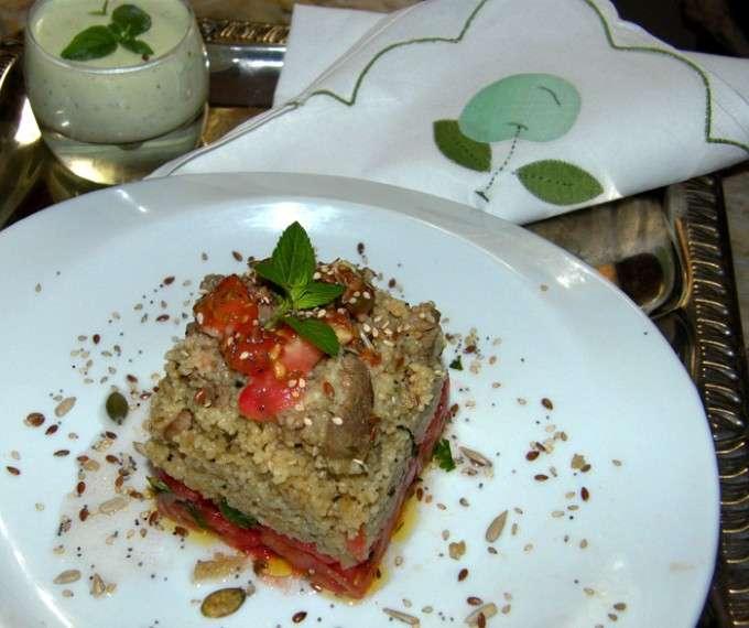 Cordero con cuscus y manzana 1