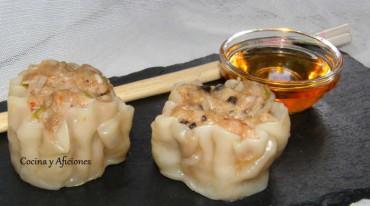 Dimsum (aperitivos chinos)  Siao Mai, receta paso a paso