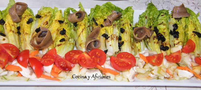 Ensalada con vinagreta de verduras y ajo negro 3
