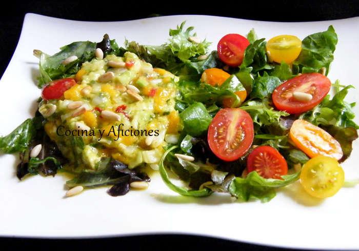 Ensalada de aguacate y mango presentacion 1