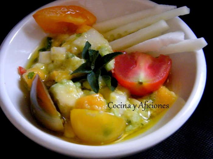 Ensalada de aguacate y mango presentacion 3