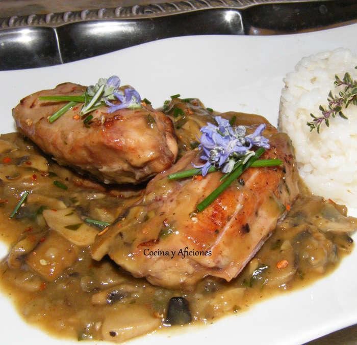Lomos de conejo en Salsa Périgueux con champiñones y trufa 1
