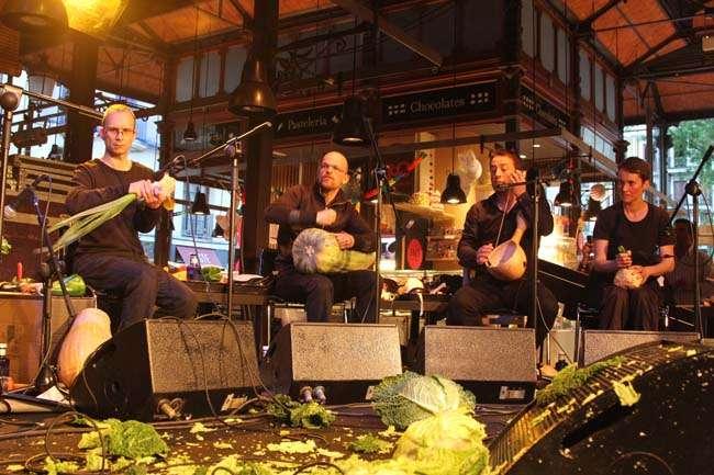 El mercado de San Miguel y la orquesta de las Verduras