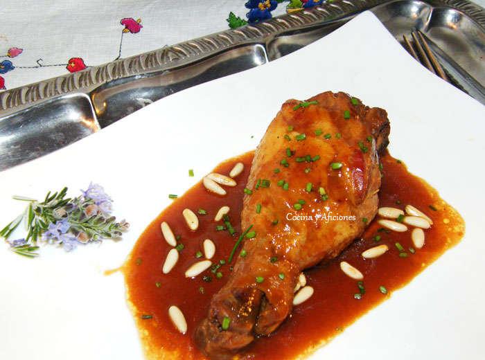 Pollo marinado en soja y especias 1