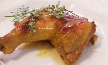 Pollo guisado con soja y especias y maridado por Jesús Flores, receta paso a paso.