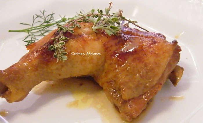 Pollo marinado en soja y especias 5