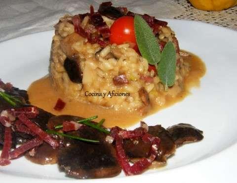 Risotto de otono con jamon iberico ok