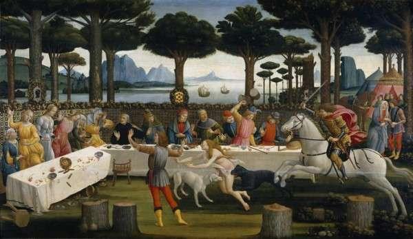 Sandro Botticelli, La historia de Nastasio degli Onesti Museo Nacional del Prado