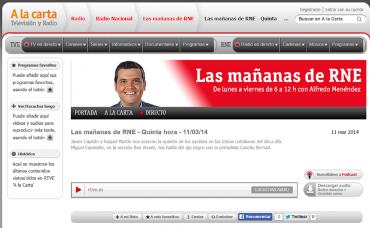 """El  """"Bon Vivant"""", Concha Bernad y el ajo negro  en """"Las Mañanas de RNE""""."""