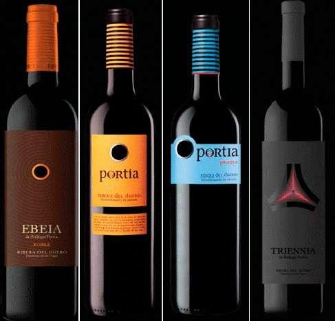 Fichas técnicas de los vinos de «Bodegas Portia»