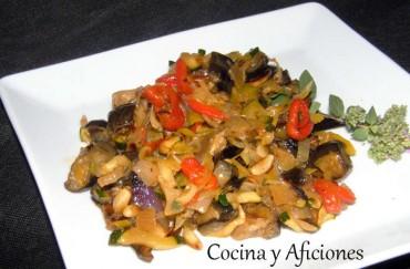 Verduras de temporada en texturas, receta súper light paso a paso