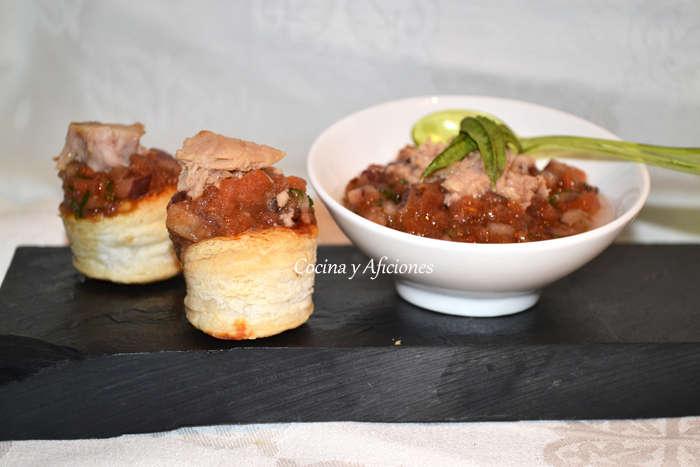 aperitivo de tartar de tomate y datiles 3