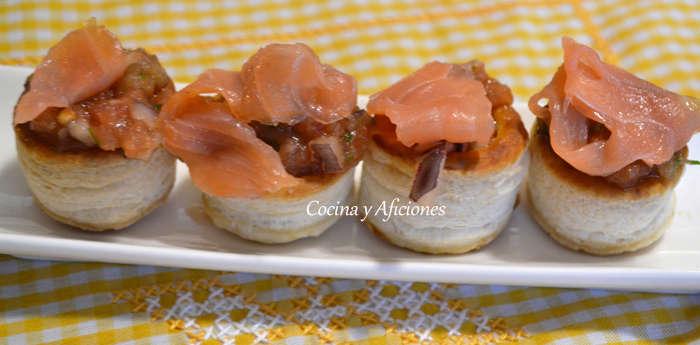 aperitivo de tartar de tomate y datiles