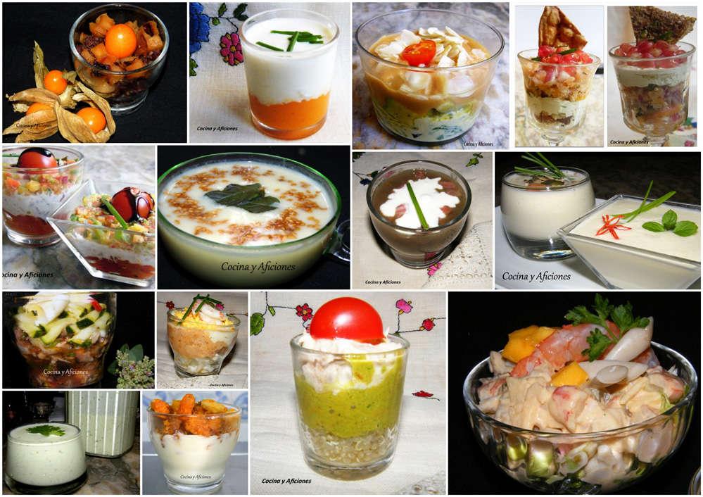 Aperitivos en vasitos recetas paso a paso y pdf cocina for Cocina para fiestas