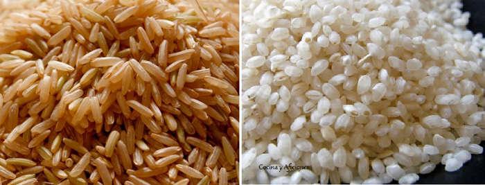 arroz integral y arroz sin cascara  ecologico