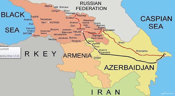 azerbayan mapa